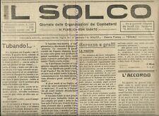 TERAMO  Il Solco Giornale delle Org. dei combattenti 1921 PREFASCISMO FIUME