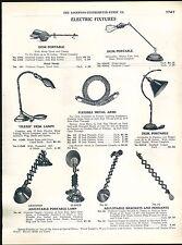 1918 ADVERTISEMENT Flexo Flexible Collapible Desk Table Lamp Piano Jack Frost