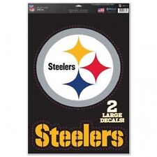 "Pittsburgh Steelers 11"" x 17"" Multi Use Decals - Auto, Walls, Windows, Cornhole"