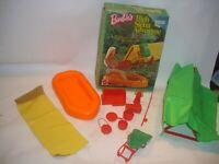 Vintage 1974 Barbie High Sierra Adventure box Mattel Boat accessories lot