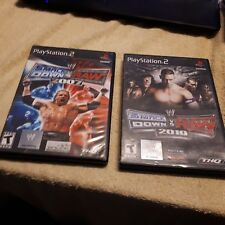 PS2 SMACKDOWN VS RAW  GAME BUNDLE  ...2007  2010 BOTH COMPLETE