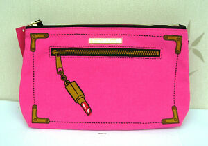 Estee Lauder Pink Lined Patterned Make Up Bag New