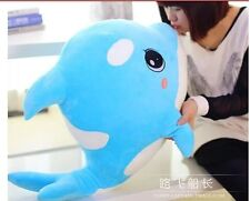 big lovely plush blue dolphin toy high quality whale doll gift about 70cm