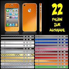 IPHONE 4S FOLIE ORANGE CARBON ( BUMPER COVER HÜLLE SKIN SCHALE CASE )