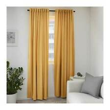 IKEA Sanela 100 Cotton Curtains 1 Pair Golden Brown 140x250 Cm