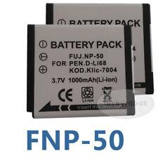 2 Battery for Fuji NP-50 FinePix F50fd F60fd F70 F80 EXR F200EXR Z100FD F300EXR
