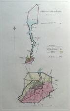 NEWPORT, ISLE of  WIGHT, Street Plan, Dawson Original antique map 1832
