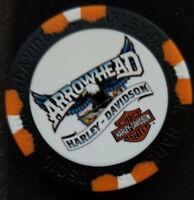 Harley Poker Chip Full Color Wide Print (Black/Orange) ARROWHEAD HD ~ Arizona