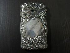 Gorham Sterling Silver FLORAL Match safe Vesta case B2166