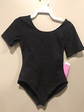 NEW WITH TAGS KIDS 12-14 SHORT SLEEVE SUPER SOFT GILDA MARX LEOTARD