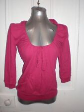 BNWT Cotton On size Small 3/4 sleeve Sara scoop hoody holly berry 100% cotton EC