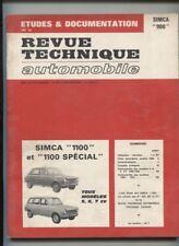 revue technique  1972   :  SIMCA  1100 et 1100 spécial berline et break  1968-72