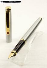 Old Slim Rotring  Cartridges Fountain Pen Silver – Gold with gold-plated M-nib