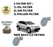 para TOYOTA RAV4 VALVEMATIC 2.0 3zr-fae 2013- > Filtro De Polen Aire Aceite