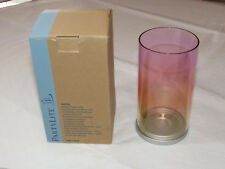 Party Lite P90996 Sunrise Candle Lamp glass w/ stand candle holder with box NOS