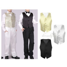 Page Boy Child Kid Toddler Party Wedding Vest Waistcoat Formal Tuxedo Suit 2-14T