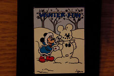 Minnie Mouse Winter Fun Minnie builds Mickey Snowmouse  LE 250 Pin