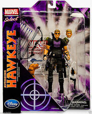 "7"" MARVEL SELECT AVENGING HAWKEYE ACTION FIGURES KID DISNEY STORE COLLECTION TOY"