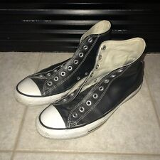 Converse All Star Chuck Taylor Black Leather High Top Men's 9 WMNS 11