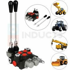2 Spool 21 Gpm Hydraulic Control Valve Double Acting Tractor Loader With Joystick