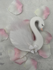 Wooden Swan Shelfie,Handmade Feather Swan