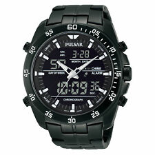 Pulsar Men's Stainless Steel Analog & Digital Chronograph Watch PW6011 $175