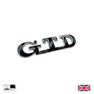 New 2021 GTD Boot Badge Black Chrome Metal VW GOLF MK3 MK4 MK5 MK6 MK7 PASSAT
