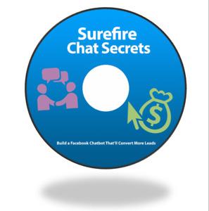 Surefire Chat Secrets, Build a Facebook Messenger Chat Bot, Generate Leads CDRom