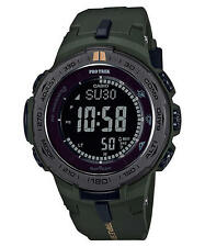 Casio Men PRO-TREK TRIPLE SENSOR SOLAR DARK GREEN PRW3100Y-3