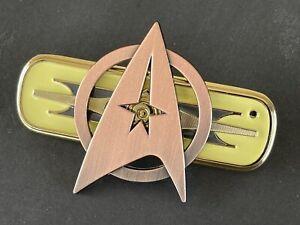 """Star Trek Wrath Of Kahn Movie Monster Maroon Kirk Spock Badge """"All Metal"""""""