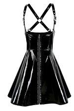 Negro PVC MINI VESTIDO Ouvert /BLACK PVC Sexy ouvert Vestido