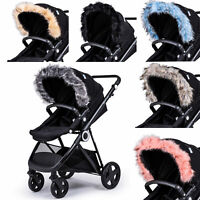 Pram Fur Hood Trim Attachment For Pushchair Compatible with Quinny