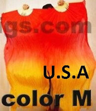 Silk Fan Veils Belly Dance 100% Silk Quick Ship USA Store       FREE GIFT