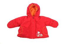 SANETTA Mädchen Winterjacke Gr 62 Rot Orange mit Kapuze Baby Jacke Anorak NEU