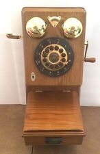 "Thomas Classic Edition Wall Phone PP90 Replica 1927 Country Oak 17"" Tall NEW Box"