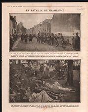 WWI Poilus Village Saint-Hilaire-le-Grand la Marne Champagne 1915 ILLUSTRATION