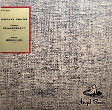 Mozart Songs Elisabeth Schwarzkopf Walter Gieseking Angel ANG 35270 NM/EX