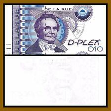 TDLR Thomas De La Rue Test Note D-Plex Charles Babbag Uniface Proof Specimen Unc