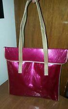 Vintage Clinique hot pink PVC Tote purse Bag
