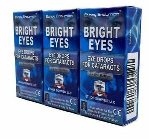 Ethos Bright Eyes Eye Drops for Cataracts to Improve Aging Eyes 3 Boxes 30ml
