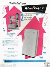 A- Publicité Advertising 1951 Refrigerateur Robot de cuisine Kenwood Newfrigor