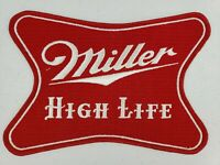 "Vintage X LARGE 9"" x 6"" Miller High Life Beer Driver Jacket Uniform Back Patch"
