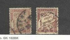 France, Postage Stamp, #J40-J41 Used, 1896-1920 Postage Due