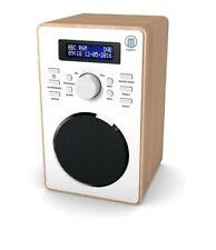 Barton II Retro DAB/DAB+ Digital FM Upright Radio/Alarm Clock/Wood Wood Effect