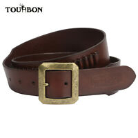 Tourbon Brown Bandolier Vintage Real Leather Ammo Holder Belt  20 Loops M/L Size