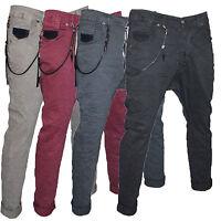Pantaloni Uomo Klixs Jeans Mod Strike Cavallo Basso Denim Cotone Comfort Italy