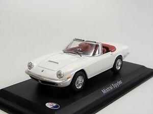 Maserati Mistral Spyder 1964 weiss  Whitebox 520 Neu in OVP 1/43