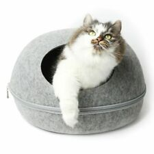 Cosmo's Own Felt with Cushion Eco-Friendly Grey Cat Cave Bed Brand New