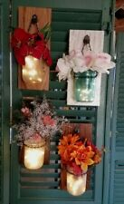 Single Rustic Authentic Barn Wood Mason Jar Sconces