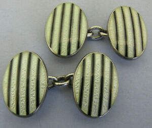 Vintage Penhaligon's Sterling Silver & Enamel Cufflinks